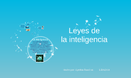 Copy of Leyes de la inteligencia