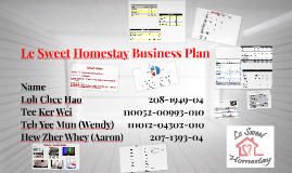Business plan for homestay