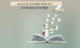 MANUAL INSTRUTIVO DA ENFERMAGEM