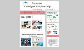 Atelier 506 - Les réseaux sociaux : lieux privilégiés pour lire, écrire, échanger et partager