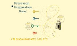 Keys to Successful Preseason Preparation