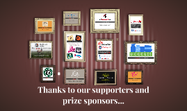Thanks to our prize sponsors...