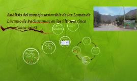 Análisis del manejo sostenible de las Lomas de Lúcumo de Pac