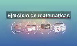 Ejercicio de matematicas