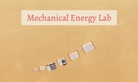Mechanical Energy Lab