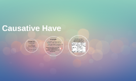 Causative Have