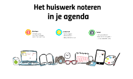 Huiswerk noteren in je agenda