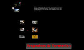 Propositos de Formacion