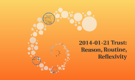 2014-01-21 Trust: Reason, Routine, Relexivity