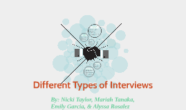 different types of interviews used in