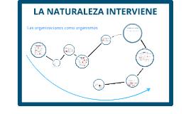 Copy of LA NATURALEZA INTERVIENE: Las organizaciones como organismos.