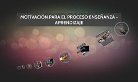 MOTIVACIÓN EN EL PROCESO DE ENSEÑANZA - APRENDIZAJE