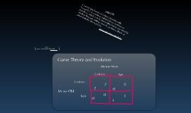 Game theory - evolutionary strategies