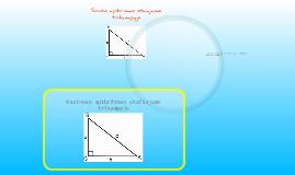 Sinuso, kosinuso, tangento ir kotangento apibrėžimas stačiajame trikampyje