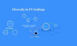 Wk7 Diversity in Settings