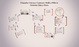 Empathy Literacy Contract: Walk a Mile in Someone Else's Sho