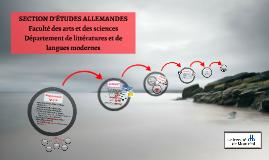 SECTION D'ÉTUDES ALLEMANDES