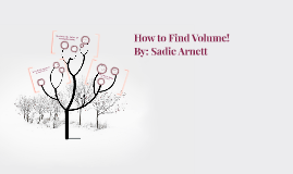 How to Find Volume!