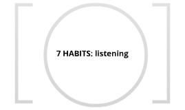 7 habits: listening