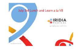 July 3 2013 Lunch & Learn