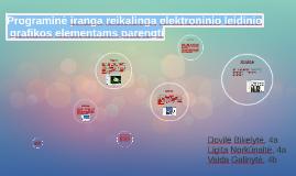 Programinė įranga reikalinga elektronninio leidinio grafikos