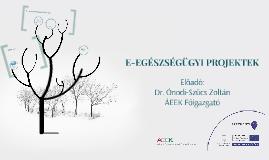 E-EGÉSZSÉGÜGYI PROJEKTEK - 2015.06.17.