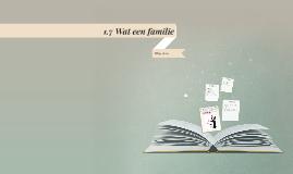 1.7 Wat een familie