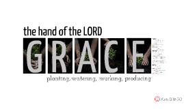 The hand of the LORD: