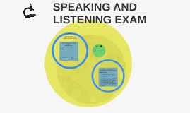 Speaking and lISTENING EXAM