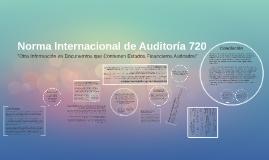 Norma Internacional de Auditoría 720