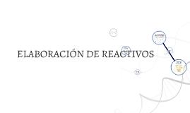 ELABORACION DE REACTIVOS