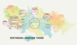 Rhetorical Analysis Terms