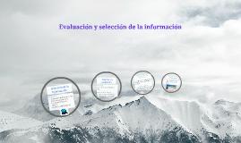 Copy of Evaluación y selección de la información