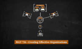 MGT 726 - Creating Effective Organizations