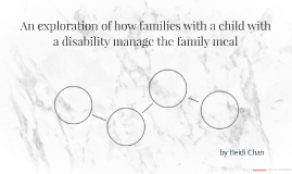 ? An exploration of how families with a child with a disabilit