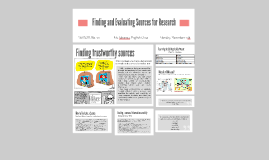 Finding and Evaluating Sources for Research