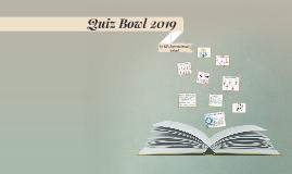 Quiz Bowl 2019