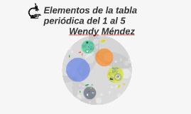 Elementos de la tabla periodica del 1 al 5