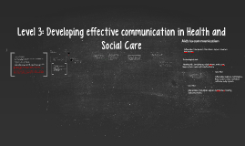 Level 3: Developing effective communication in Health and So