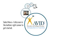Copy of AVID Tutor Training: Introduction to Tutorials