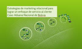 Copy of Estrategias de marketing relacional para lograr un enfoque d