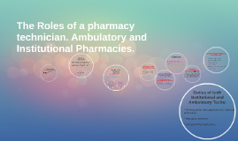 The Roles of a pharmacy technician. Ambulatory and Instituti