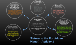 'Return to the Forbidden Planet' - Activity 1