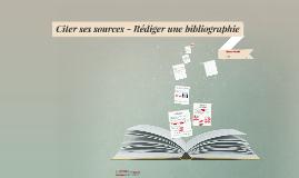 Citer et rédiger une bibliographie Licence