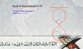 Surah Al Mumtahinah(12-13)