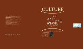 MKTG1259 Presentation Weasel Coffee