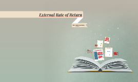 External Rate of Return