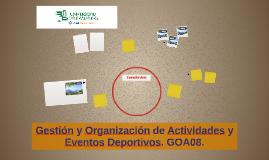 Gestión y Organización de Actividades y Eventos Deporti