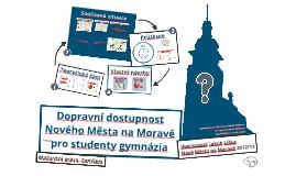 Dopravní dostupnost Nového Města na Moravě pro studenty gymnázia