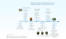 Copy of línea del tiempo sobre los momentos históricos más importantes de la reflexión filosófica acerca de la educación